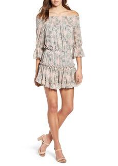 MISA Los Angeles Geroux Off the Shoulder Blouson Dress