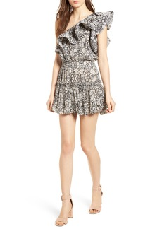 MISA Los Angeles Josefine Ruffle One-Shoulder Dress
