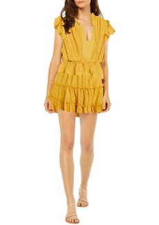 MISA Los Angeles Lilian Clip Dot Tiered Ruffle Dress