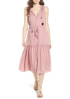 MISA Los Angeles Nicolleta Tie Waist Midi Dress