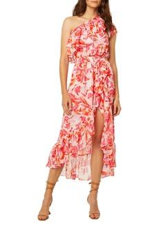 MISA Los Angeles Rumi Floral One-Shoulder Dress