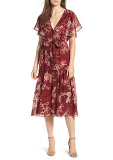MISA Los Angeles Veronique Ruffle Sleeve Dress