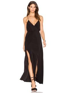 Misa Nola Double Slit Maxi Dress