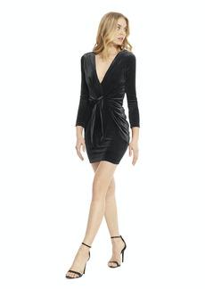 Misa Ophelie Shirred Velvet Mini Dress - L - Also in: XS, S, M