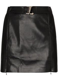 Misbhv belted vegan leather mini skirt