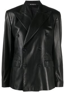 Misbhv faux leather blazer