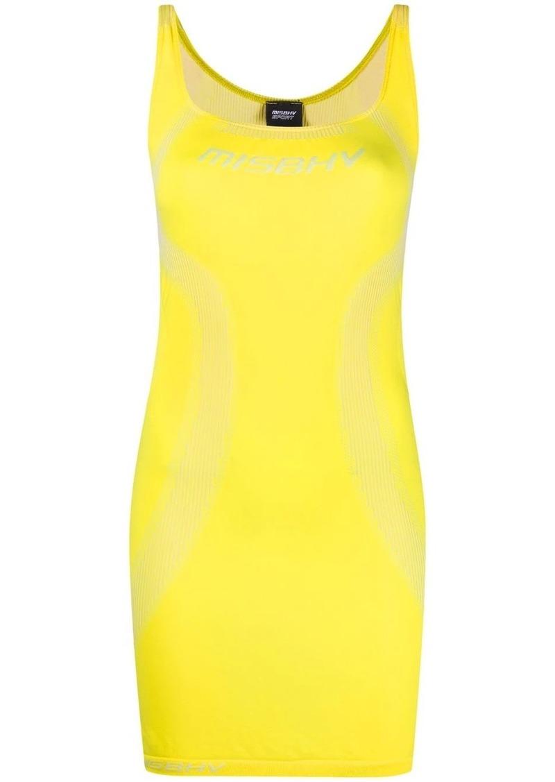 intarsia logo-knit mini dress