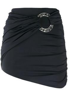 Misbhv logo-plaque draped mini skirt