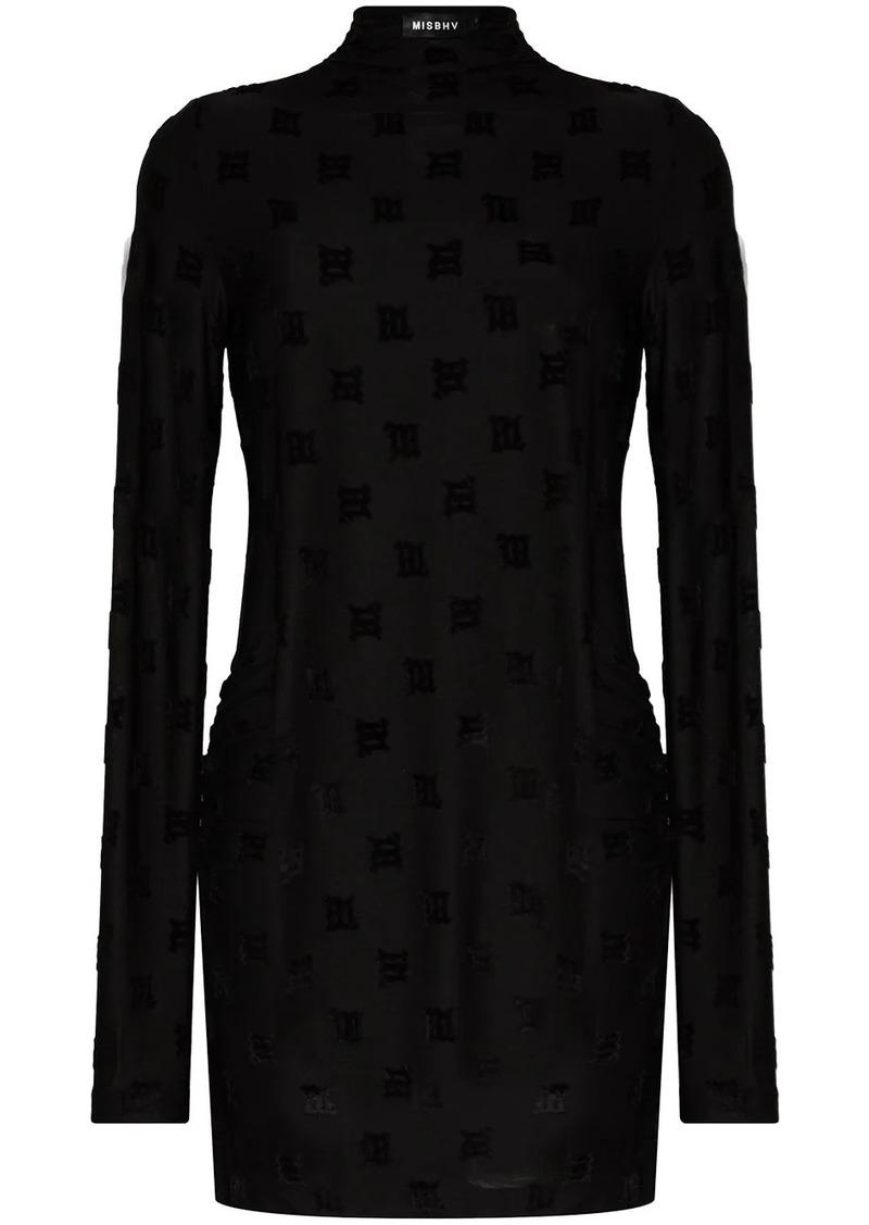monogram-print mini dress