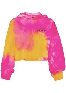 Misbhv tie-dye cropped hooded sweatshirt