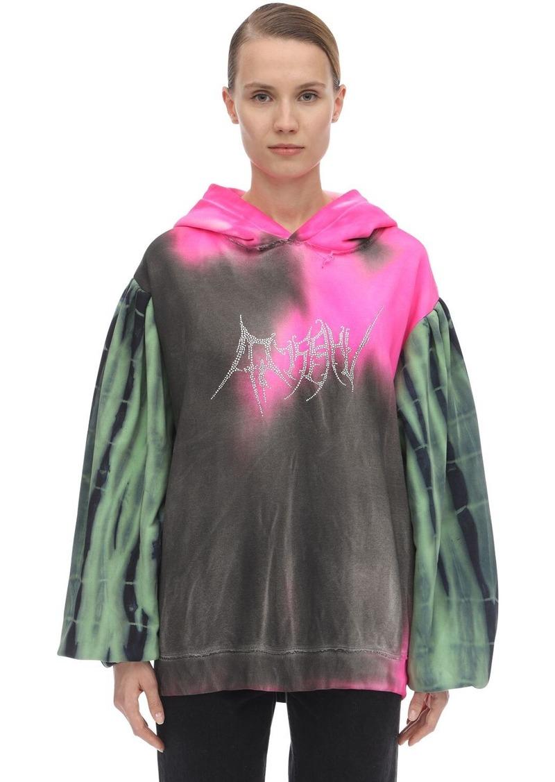 Misbhv Tie Dyed Cotton Jersey Sweatshirt Hoodie