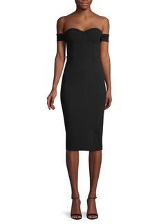 Misha Collection Chloe Off-The-Shoulder Bustier Dress