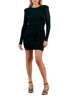 Misha Collection MISHA Evetta Open Back Long Sleeve Jersey Minidress