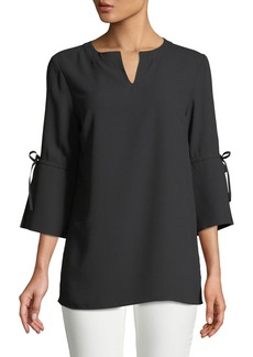 Misook 3/4-Sleeve Bow-Cuff Top