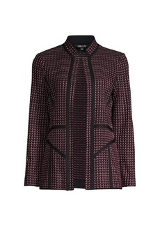 Misook Abstract Ombre Jacquard Knit Jacket