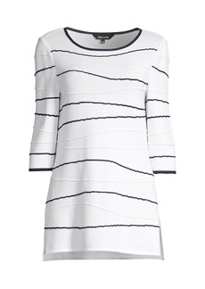 Misook Abstract Waves Tunic Top