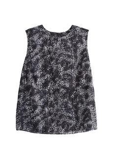 Misook Animal Print Sleeveless Blouse