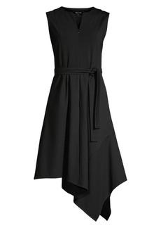 Misook Asymmetrical Ponte A-Line Dress