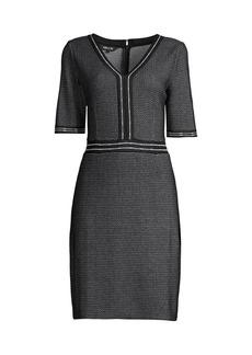 Misook Birdseye Knit Sheath Dress