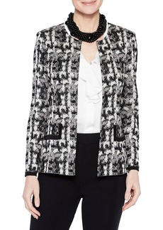 Misook Brushstroke Pattern Jacket