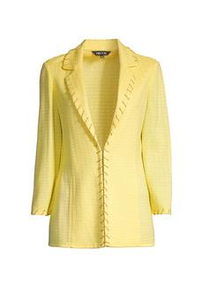 Misook Chain Trim Textured Knit Jacket