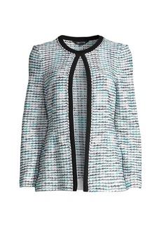 Misook Chain Trim Tweed Jacket
