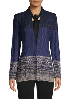 Misook Colorblock Honeycomb Knit Jacket