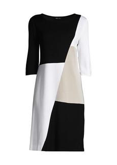 Misook Colorblock Sheath Knit Dress