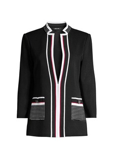 Misook Contrast Pocket Knit Jacket