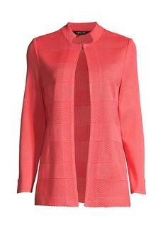 Misook Dash Textured Knit Jacket