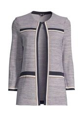 Misook Diagonal Jacquard Knit Jacket
