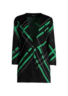 Misook Diagonal Pattern Knit Jacket