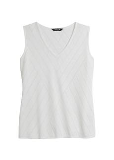 Misook Directional Burnout Knit Tank Top