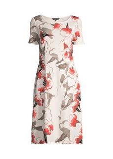 Misook Floral Knit Midi Dress