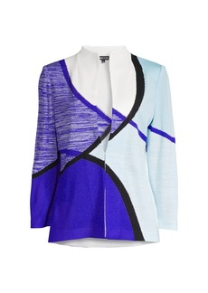 Misook Geometric Knit Jacket