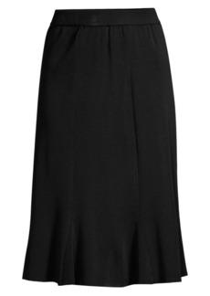 Misook Knee-Length Flounce Skirt