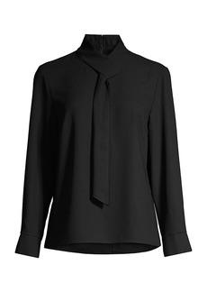 Misook Loop-And-Tie Neck Shirt