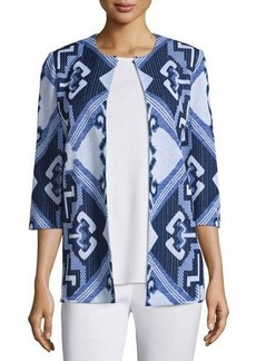 Misook 3/4-Sleeve Aztec Pattern Jacket