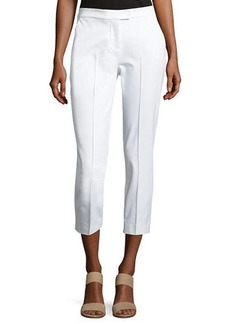 Misook Stretch-Cotton Cropped Pants