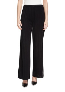 Misook Vertical Lines Wide-Leg Pants
