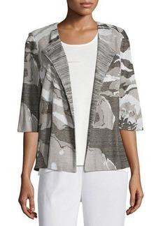Misook Floral Focus 3/4-Sleeve Jacket
