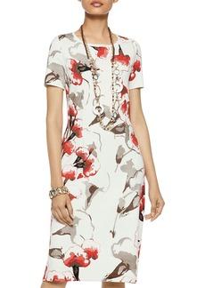 Misook Floral-Pattern Knit Dress