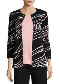 Misook Ribbon 3/4-Sleeve Jacket