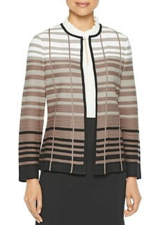 Misook Striped Knit Blazer