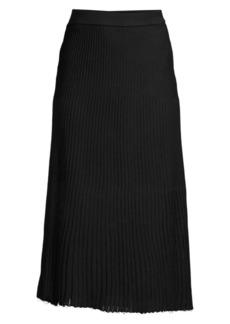 Misook Multi-Stitch A-Line Midi Skirt