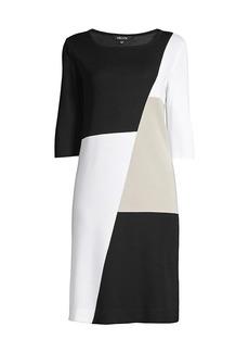 Misook Petite Colorblock Sheath Dress