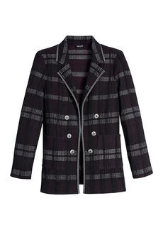 Misook Plaid Jacquard Knit Jacket