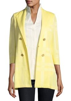 Misook Plus Size 3/4-Sleeve Long Statement Jacket