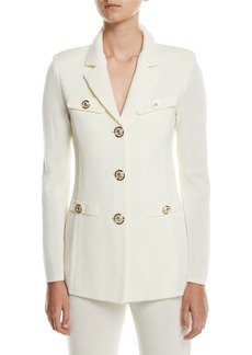 Misook Plus Size Dressed Up Button-Front Jacket