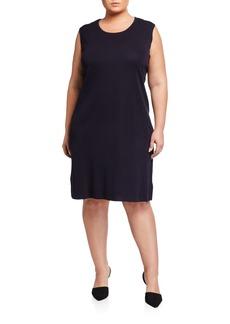 Misook Plus Size Pullover Sleeveless Tank Dress